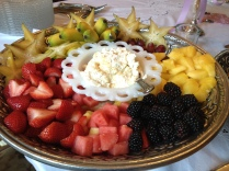 Assorted Fruits with Heavy Cream