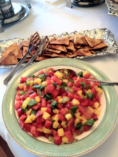 Fruit Salsa with Cinnamon Tortillas