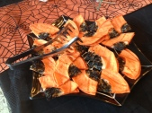 Roasted Squash and Kale Chips Halloween Style