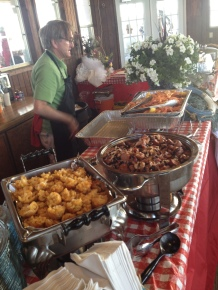 Setting up the Shrimp & Crawfish Boil at Corinthian Sail Club