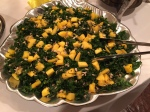 A remarkably healthy fix of massaged kale topped with fresh mango and sunflower seeds. Dressed with sweet and savory lemon pepper vinaigrette. This is a consistent winner at parties.